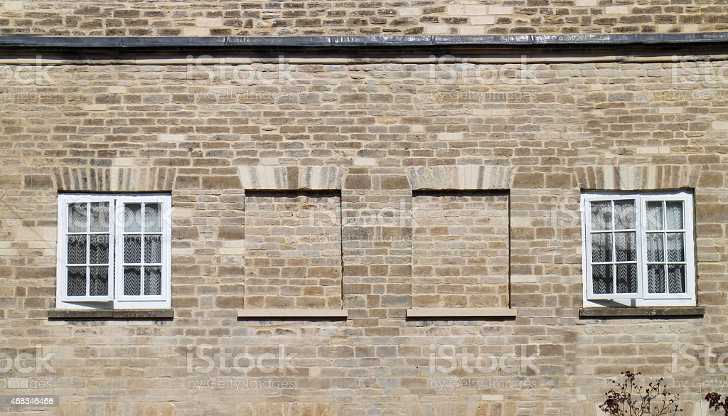 Blocked up windows as a result of a Window Tax stock photo