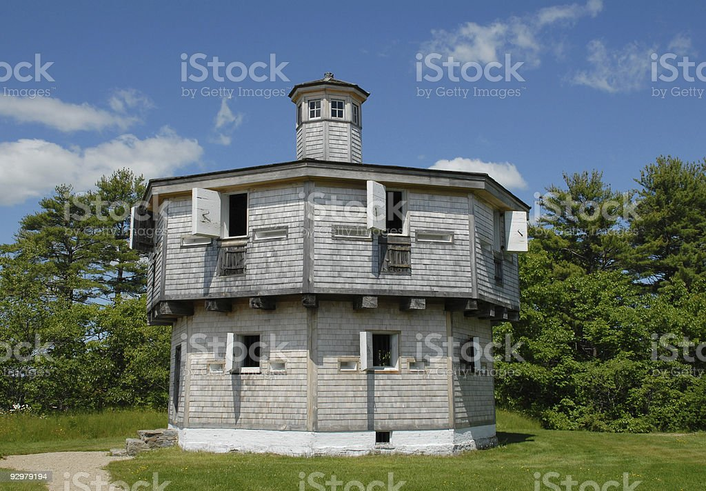 Blockhouse at Fort Edgecomb royalty-free stock photo