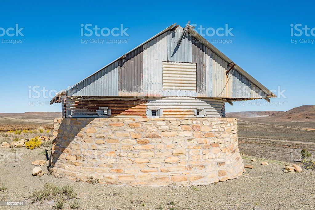 Blockhouse on Koeelkop in Carnavon stock photo