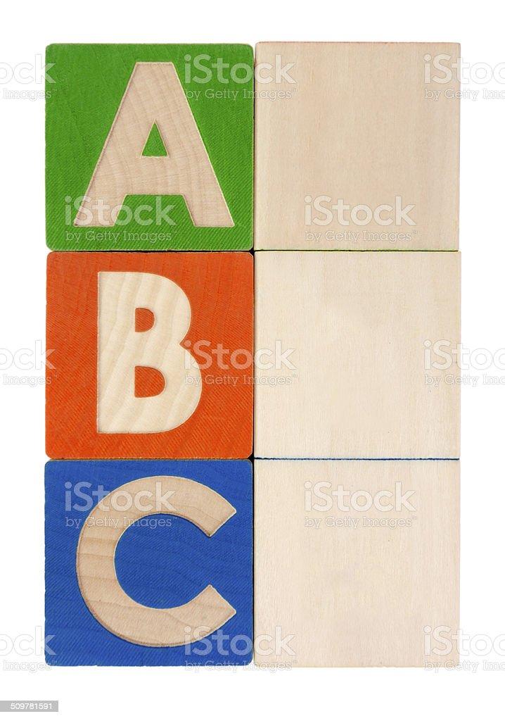 Blocks ABC stock photo
