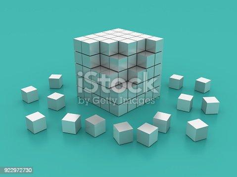 istock Blocks Cube - 3D Rendering 922972730