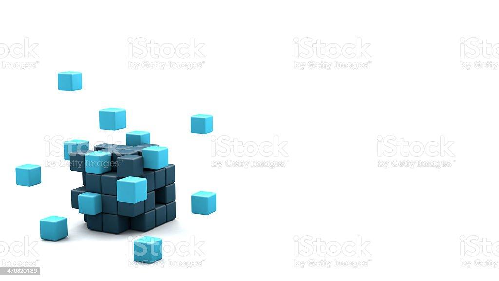 3D blocks cube foto