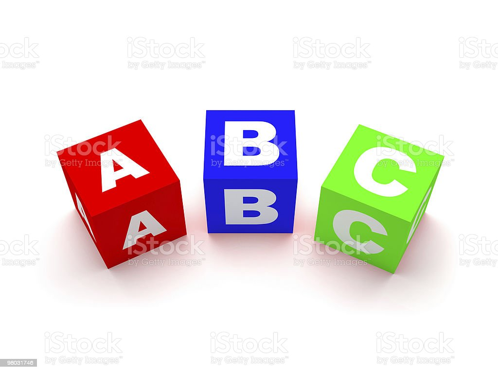 Blocchi di ABC isolato su bianco foto stock royalty-free