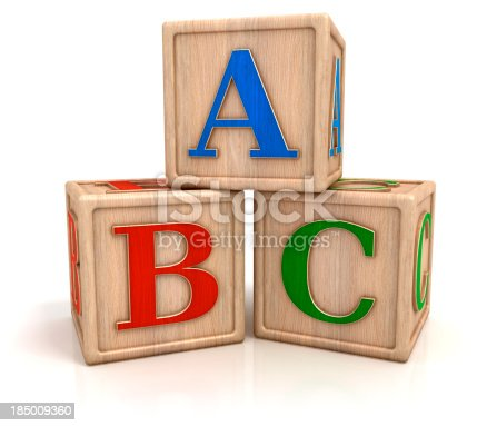 istock ABC blocks isolated with clipping path 185009360