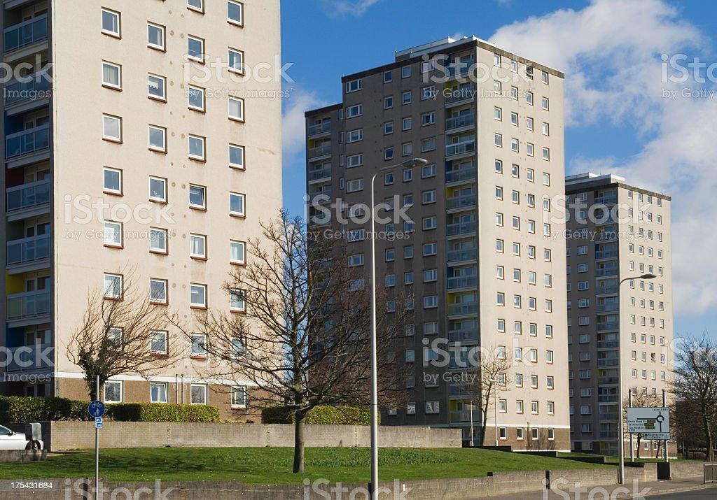 Blocks of flats royalty-free stock photo