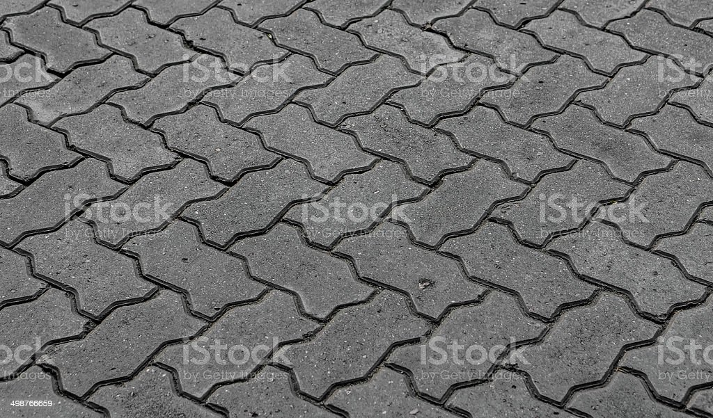 blocks of gray stone blocks for paving sidewalks royalty-free stock photo