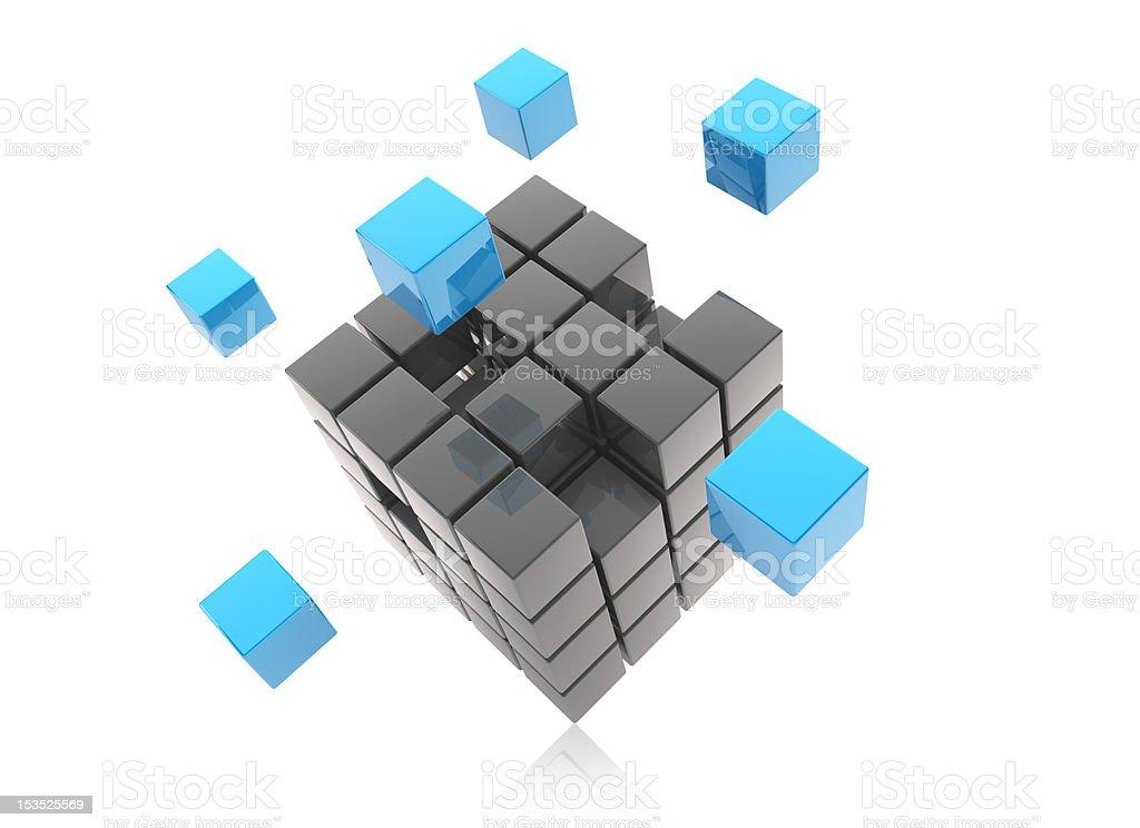 3D Blocks royalty-free stock photo