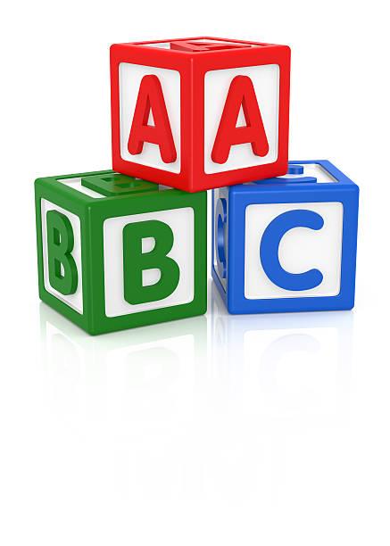 ABC ブロック ストックフォト