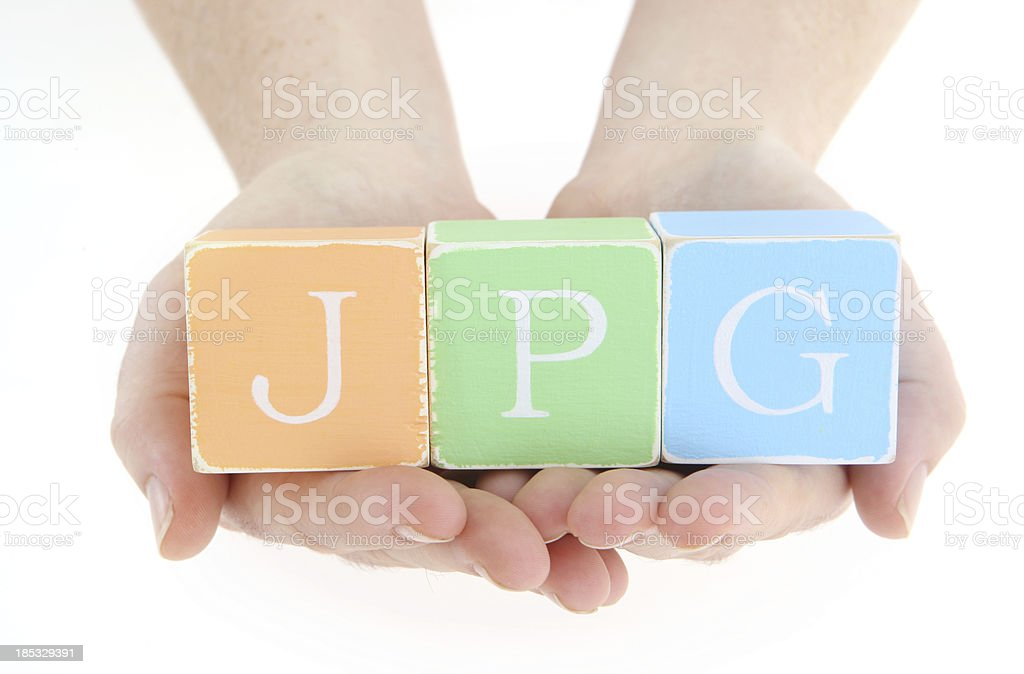 JPG Blocks royalty-free stock photo