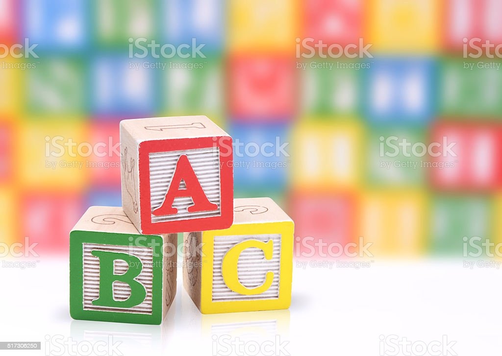 ABC blocks stock photo