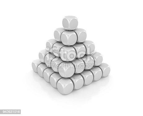 istock Blocks Pyramid - 3D Rendering 942631016