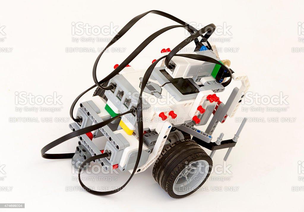 LEGO blocks robot stock photo