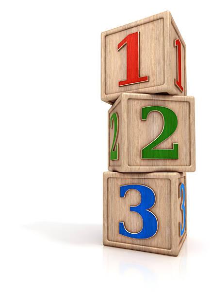 blocks stack mit zahlen 1 2 3 - mathematik 3. klasse stock-fotos und bilder