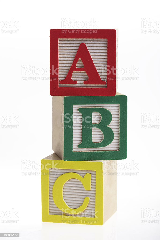 ABC Blocks XXXL royalty-free stock photo