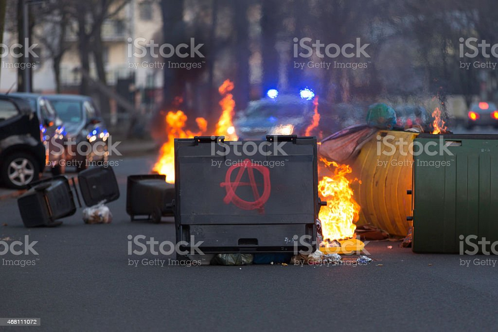 Blockupy 2015 stock photo