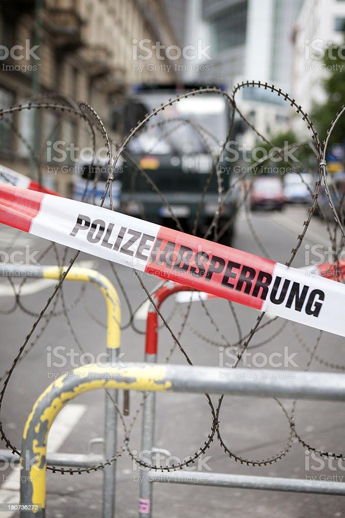 Blockupy demonstration 2013, Frankfurt royalty-free stock photo