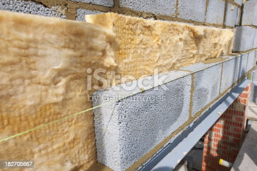 istock Blockwork Wall Construction 182705667