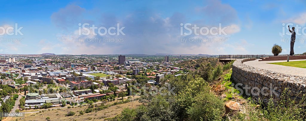Bloemfontein city panorama stock photo