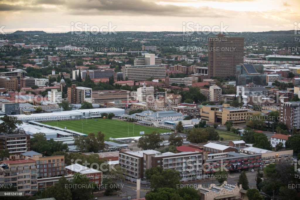 Bloemfontein from Naval Hill stock photo