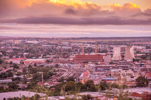 Bloemfontein from Naval Hill stock photo