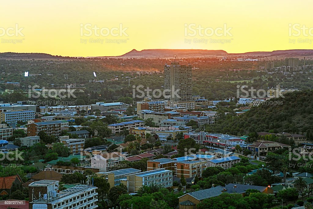 Bloemfontein sunset in South Africa stock photo