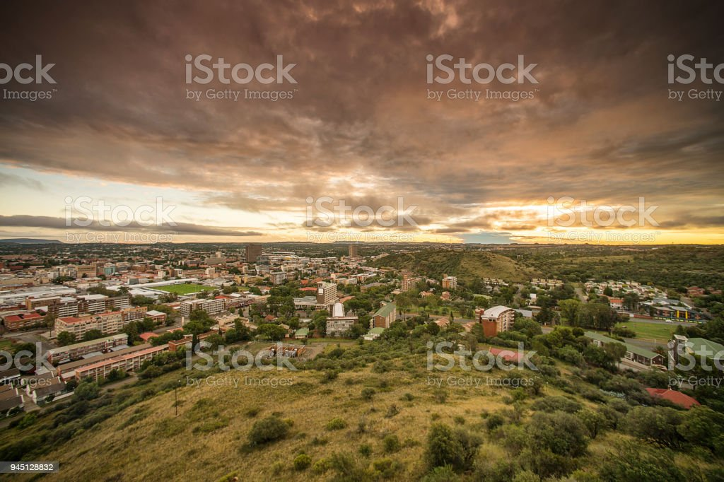 Bloemfontein view from Naval Hill West stock photo