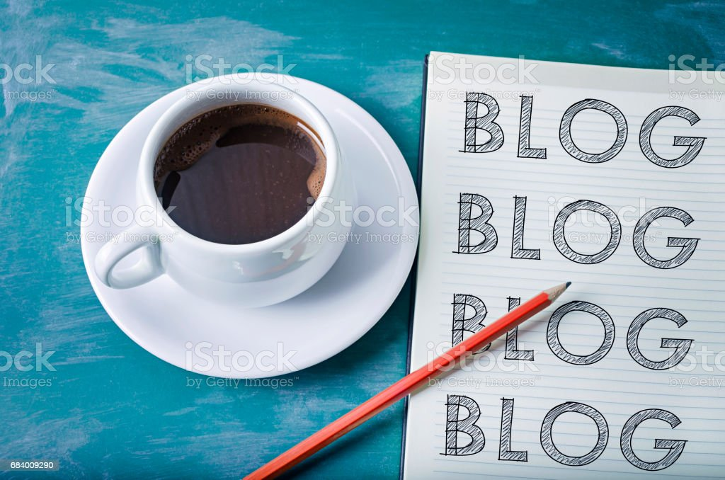 Blog, blog, blog- blogging concept stock photo