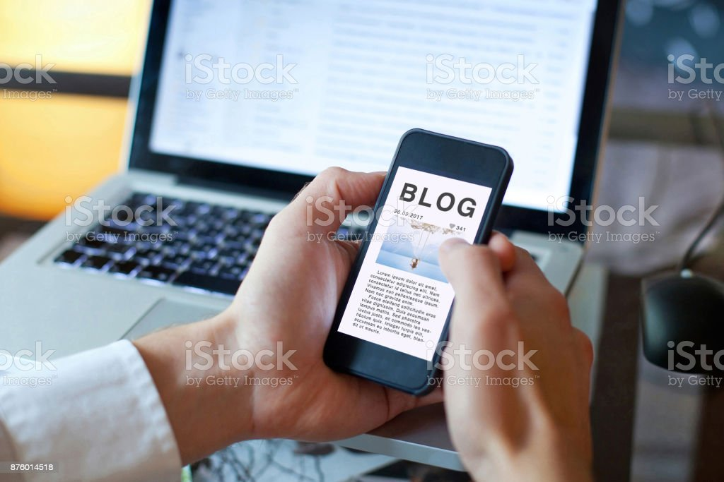 blog, blogging concept stock photo