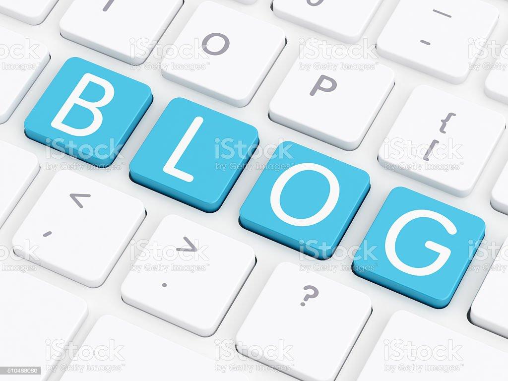 Blog computer key – Foto