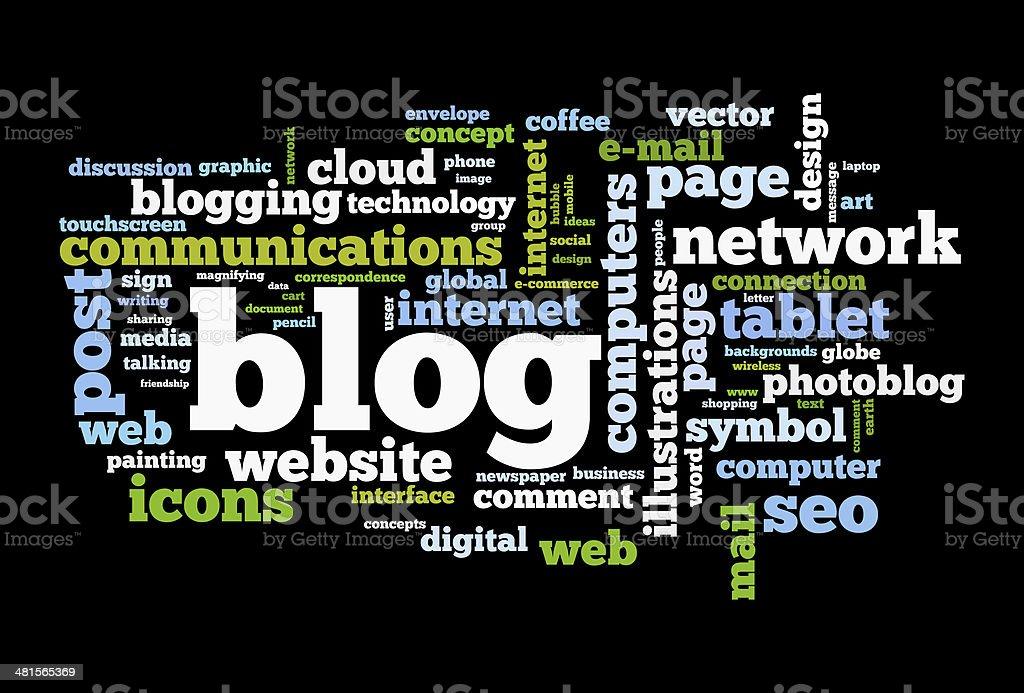 Blog concept word cloud stock photo