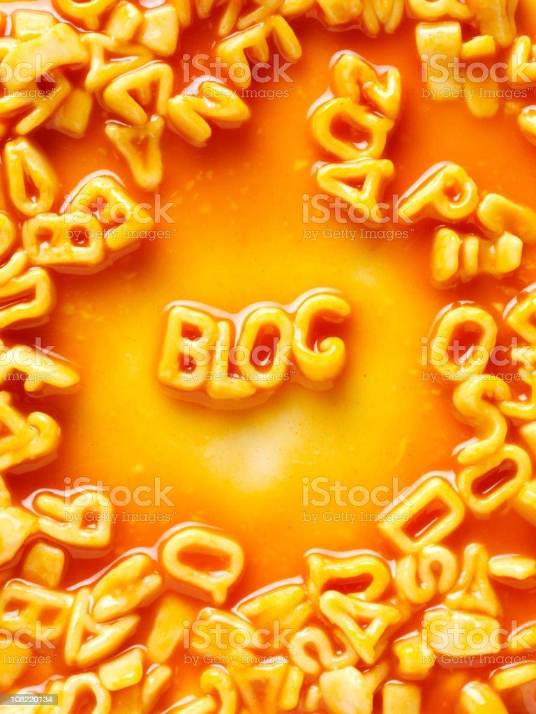 Blog in Spaghetti royalty-free stock photo
