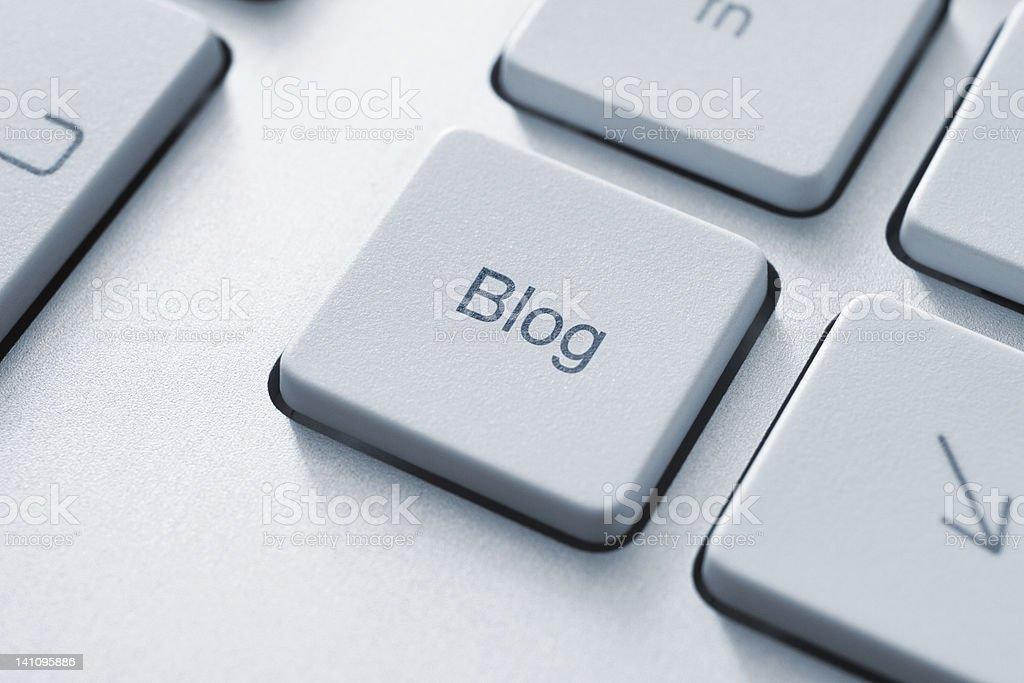 Blog Key royalty-free stock photo