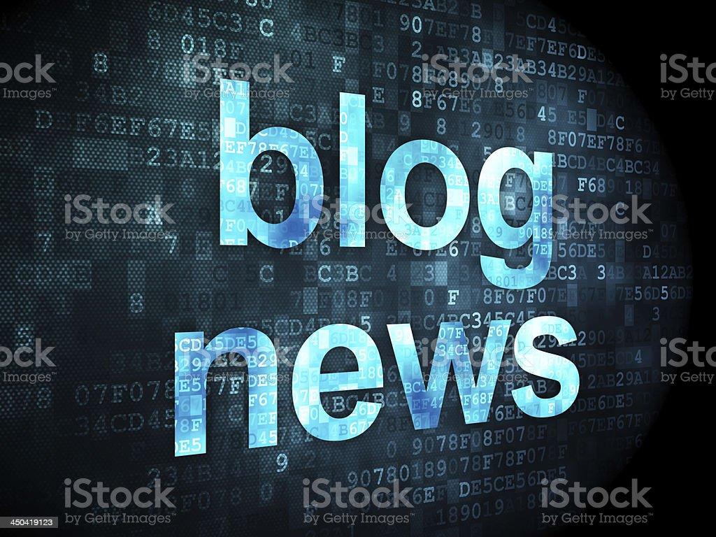 Blog News on digital background royalty-free stock photo