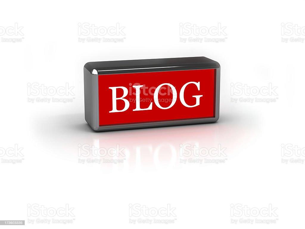 Blog on a white stock photo