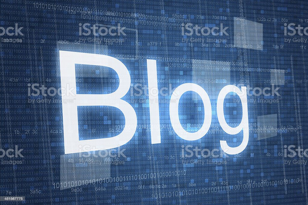 Blog on digital background stock photo