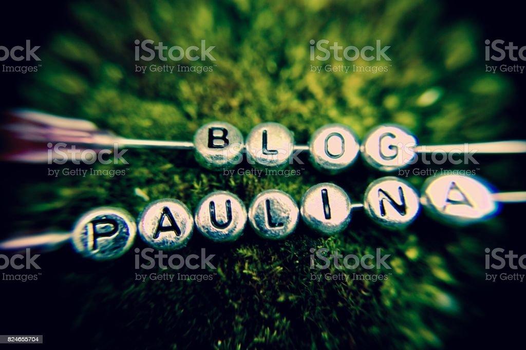 Blog Paulina stock photo