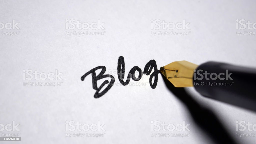 Blog stock photo