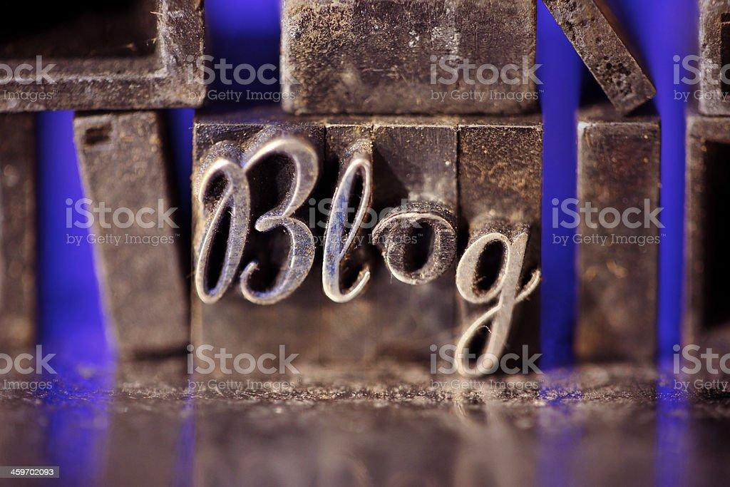 Blog script royalty-free stock photo