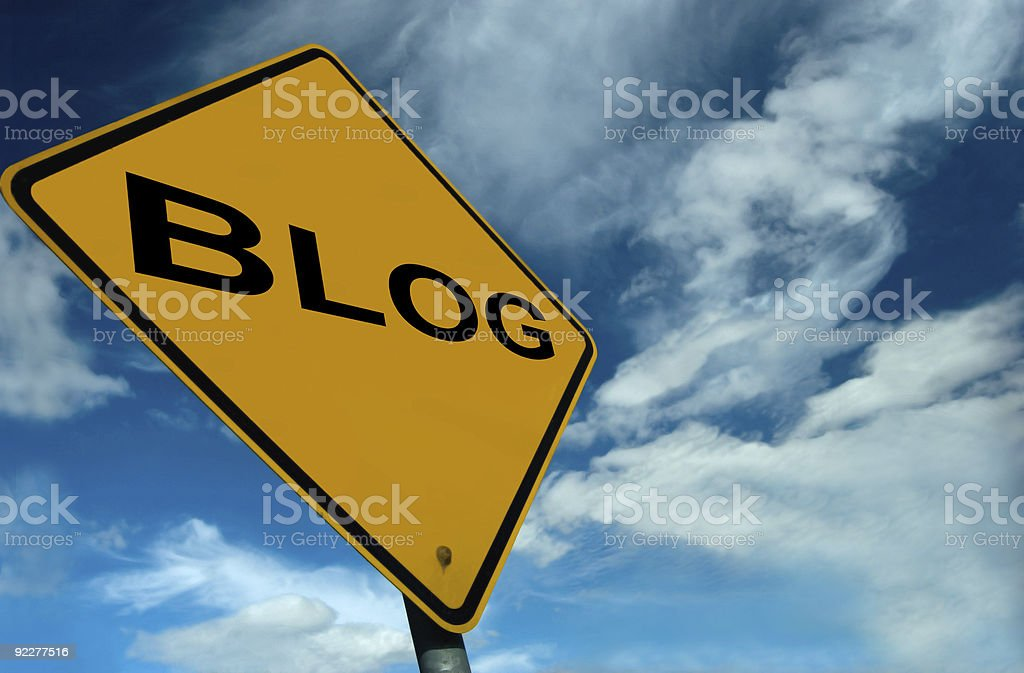 Blog Sign stock photo