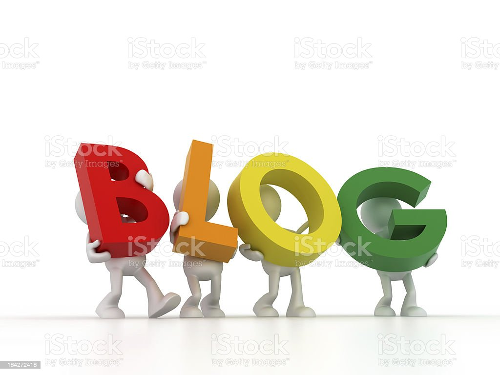 Blog Team royalty-free stock photo