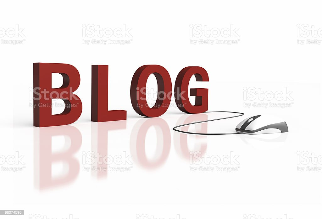Blog Text with Computer Mouse royalty-free stock photo