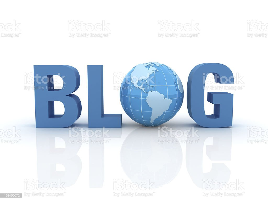 Blog Text with Earth Globe royalty-free stock photo