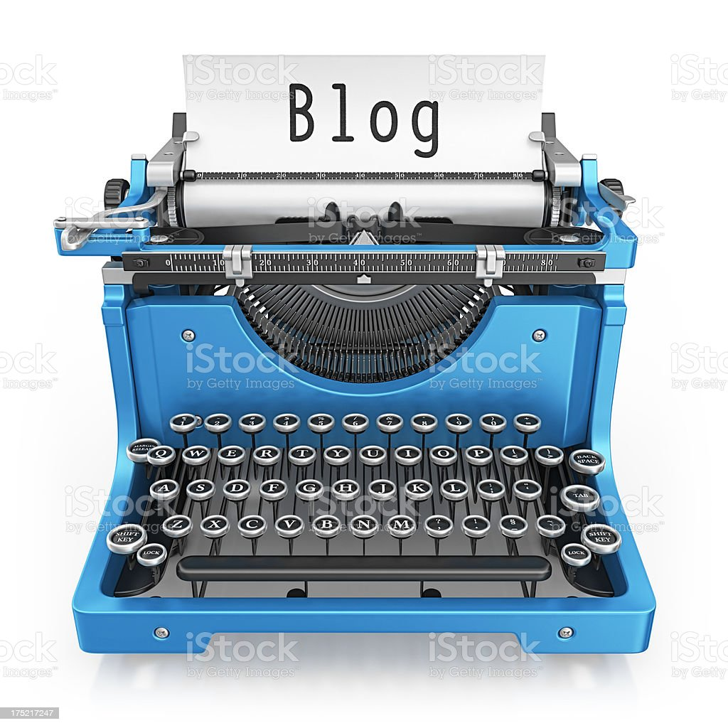 blog typewriter royalty-free stock photo
