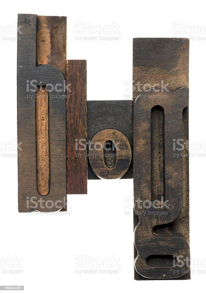 blog - wood alphabet royalty-free stock photo