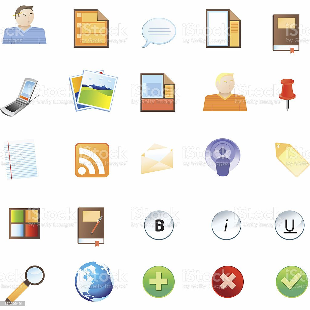 Blog/CMS Icons royalty-free stock photo