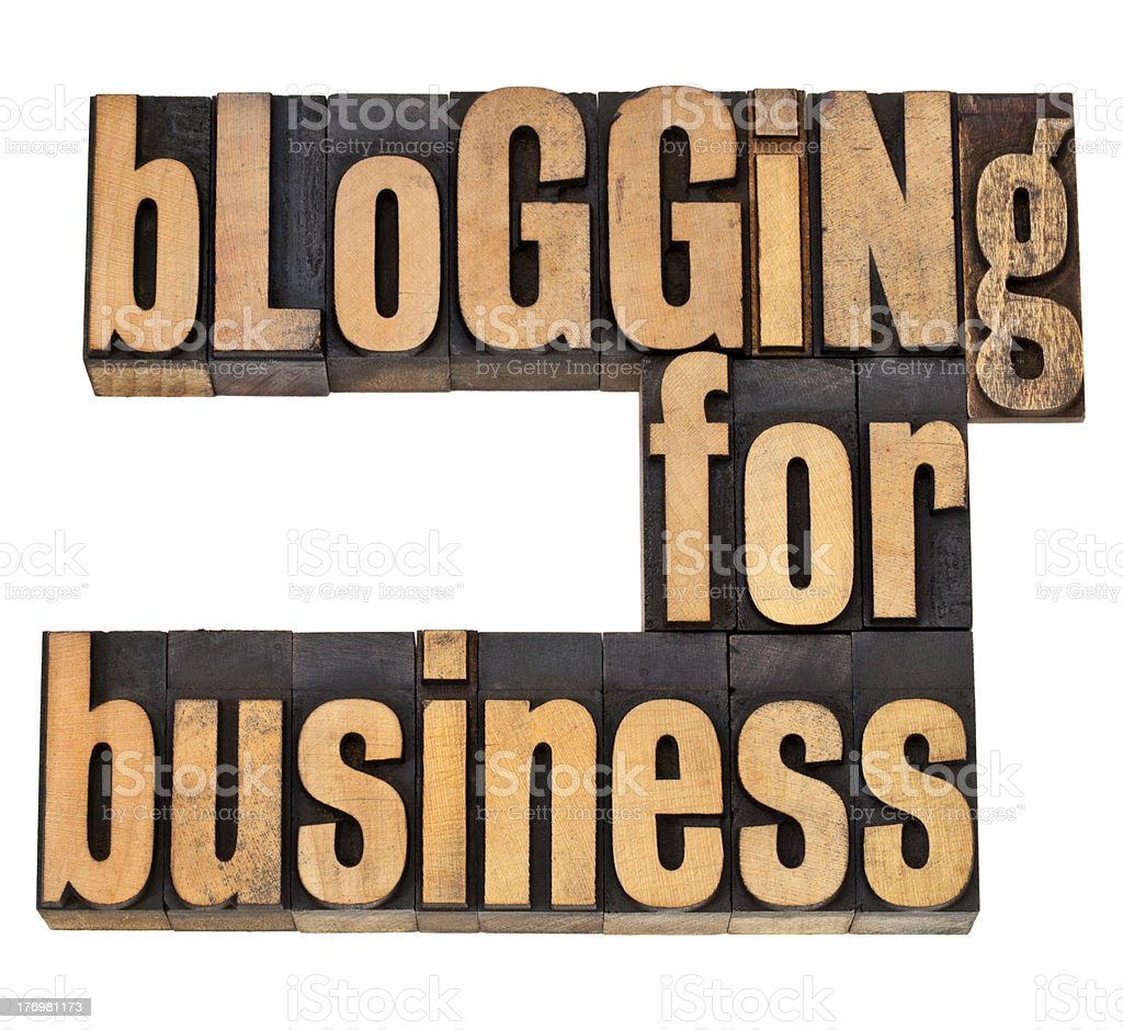 blogging for busines royalty-free stock photo