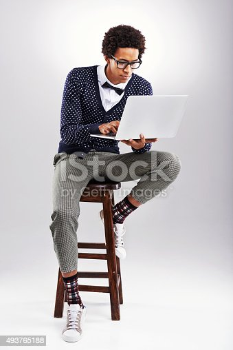 istock Blogging is his new hobby 493765188
