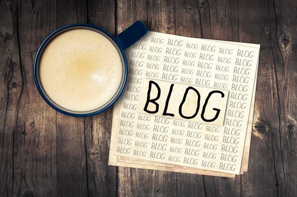 vlogs - www kaffee oder tee stock-fotos und bilder