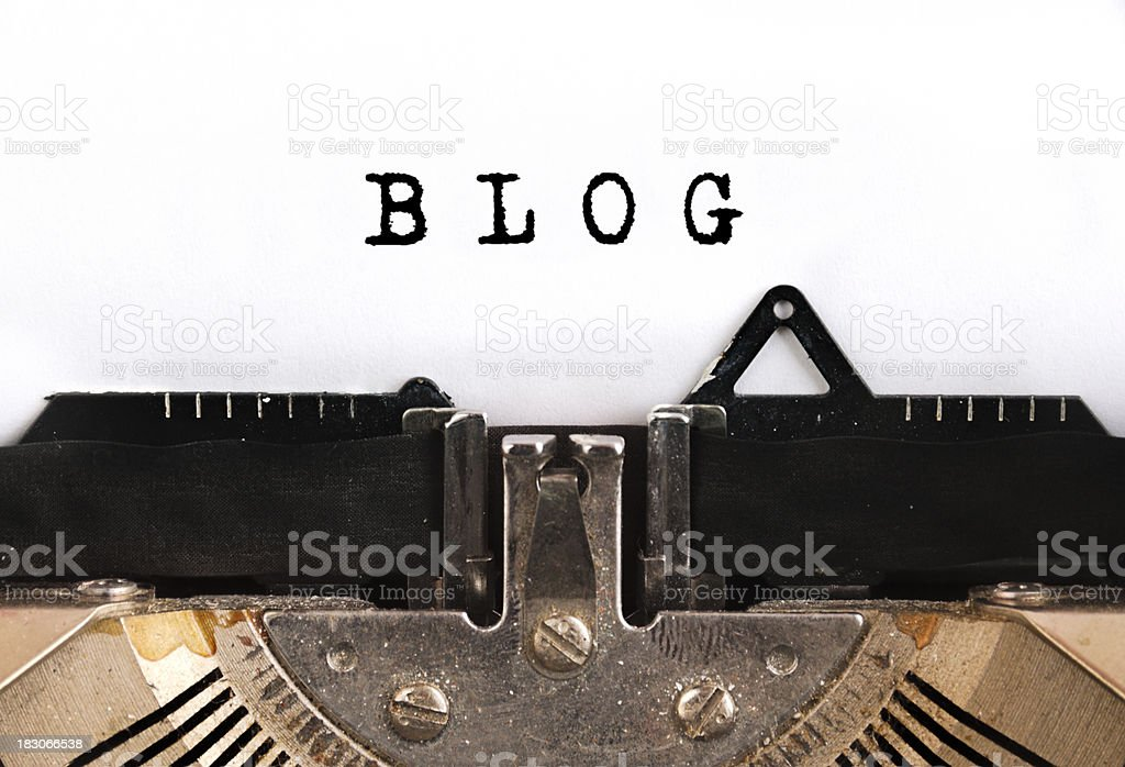 BlogTypewriter - foto de stock