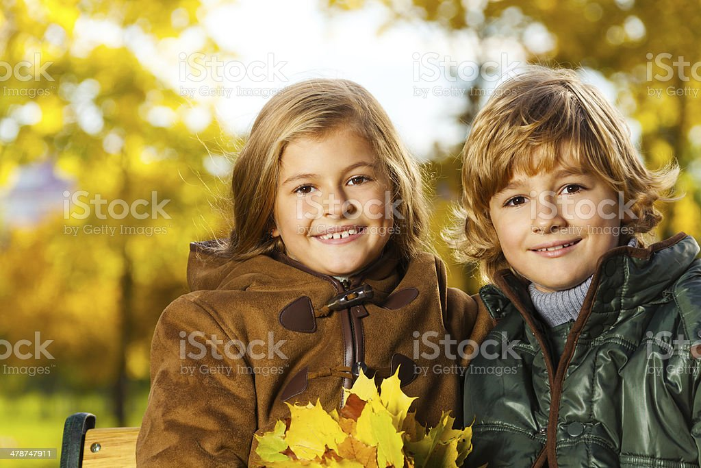 Blond and girl stock photo